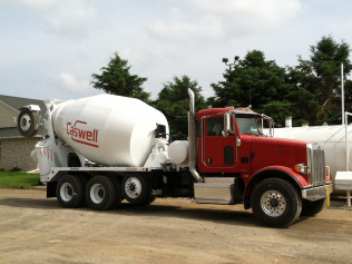 Taking delivery of new concrete truck